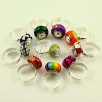 polymer clay large hole beads free size finger rings jewelry