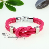 pu leather double layer toggle bracelets unisex