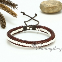 pu leather drawstring bracelets snake chain adjustable bracelets macrame bracelet woven bracelet magnetic buckle