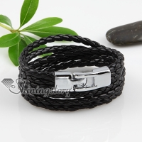 pu leather with alloy buckle woven bracelets unisex