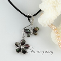 rainbow white pink abalone oyster sea shell necklaces rhinestone flower butterfly pendants mop jewellery