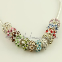 rhinestone european charms fit for bracelets