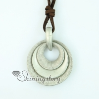 round genuine leather copper necklaces with pendants