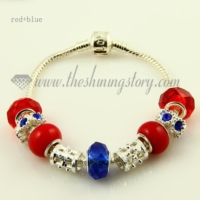silver charms bracelets with european murano glass beads