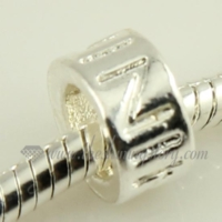 silver plated european big hole charms fit for bracelets