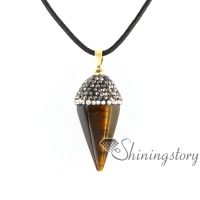 six pyramid semi precious jewellery healing stone jewelry personalized birthstone necklaces semi precious necklace agate semi precious stone