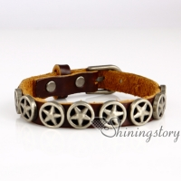 star skull wholesale leather bracelets leather bracelets nurse charm bracelet leather bracelet braided genuine leather wrap bracelets
