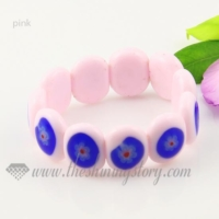 stretch lampwork murano glass beads bracelets jewelry
