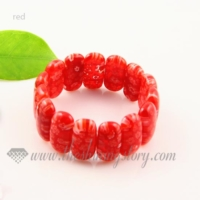 stretch millefiori lampwork murano glass beads bracelets jewelry