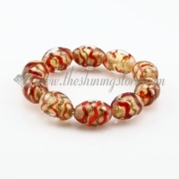 stretch swirled lampwork murano glass beads bracelets jewelry