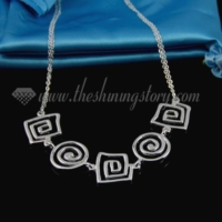 swirled 925 sterling silver plated necklaces jewelry