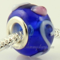 swirled european murano glass beads for fit charms bracelets