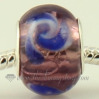 swirled lampwork glass beads for fit charms bracelets