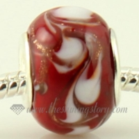 swirled murano glass beads for fit charms bracelets