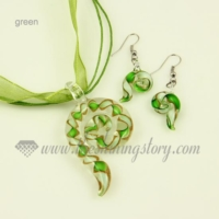 swirled venetian murano glass pendants and earrings jewelry