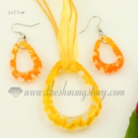 teardrop luminous venetian murano glass pendants and earrings jewelry