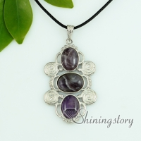 tiger's-eye amethyst rose quartz agate jade necklaces with pendants swirled openwork oval twist