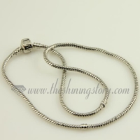 white gold plated necklaces fit for charms beads