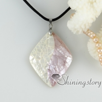 white pink oyster sea shell necklaces heart oval teardrop rhombus patchwork pendants mop jewellery