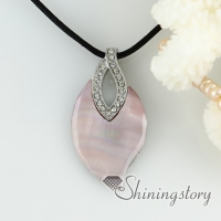 white pink oyster sea shell pendants rhinestone leaf openwork necklaces with mop jewellery