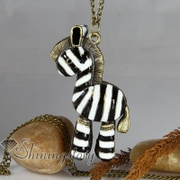 zebra brass antique long chain pendants necklaces