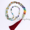 7 chakra jewelry meditation beads prayer bead store tassel necklace wholesale yoga jewelry design B