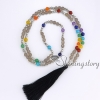7 chakra jewelry meditation beads prayer bead store tassel necklace wholesale yoga jewelry design C