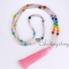 7 chakra jewelry meditation beads prayer bead store tassel necklace wholesale yoga jewelry design D