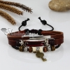 adjustable lock genuine leather charm bracelets unisex design B