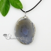 agate semi precious stone necklaces pendants with leather necklaces jewelry design C