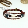 bone genuine leather wrap bracelets unisex design C