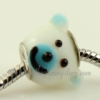 european bear murano glass beads for fit charms bracelets light blue