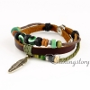feather leather wrap bracelet wholesale lucky charm bracelet heart charm bracelet leather braided bracelets genuine leather snap bracelets design C