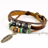 feather leather wrap bracelet wholesale lucky charm bracelet heart charm bracelet leather braided bracelets genuine leather snap bracelets design D