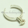 free size finger rings for large hole charms beads silver