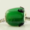 fruits lampwork glass beads for fit charms bracelets green