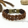 genuine leather bracelet mesh woven bracelet handcraft macrame bracelet with buckle for men and women unisex handmade jewelry design B