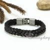 genuine leather bracelet mesh woven bracelet handcraft macrame bracelet with buckle for men and women unisex handmade jewelry design D