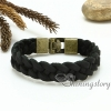 genuine leather bracelet mesh woven bracelet handcraft macrame bracelet with buckle for men and women unisex handmade jewelry design E