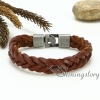 genuine leather bracelet mesh woven bracelet handcraft macrame bracelet with buckle for men and women unisex handmade jewelry design F