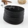 genuine leather buckle wristbands bracelets for men and women black