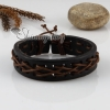 genuine leather wristbands adjustable drawstring bracelets unisex design B
