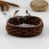 genuine leather wristbands adjustable drawstring bracelets unisex design C