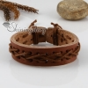 genuine leather wristbands adjustable drawstring bracelets unisex design D