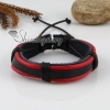 genuine leather wristbands adjustable drawstring warp bracelets unisex design B