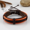 genuine leather wristbands adjustable drawstring warp bracelets unisex design C