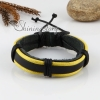 genuine leather wristbands adjustable drawstring warp bracelets unisex design D