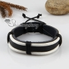 genuine leather wristbands adjustable drawstring warp bracelets unisex design E