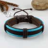 genuine leather wristbands adjustable drawstring warp bracelets unisex design G