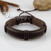 genuine leather wristbands adjustable drawstring warp bracelets unisex design H